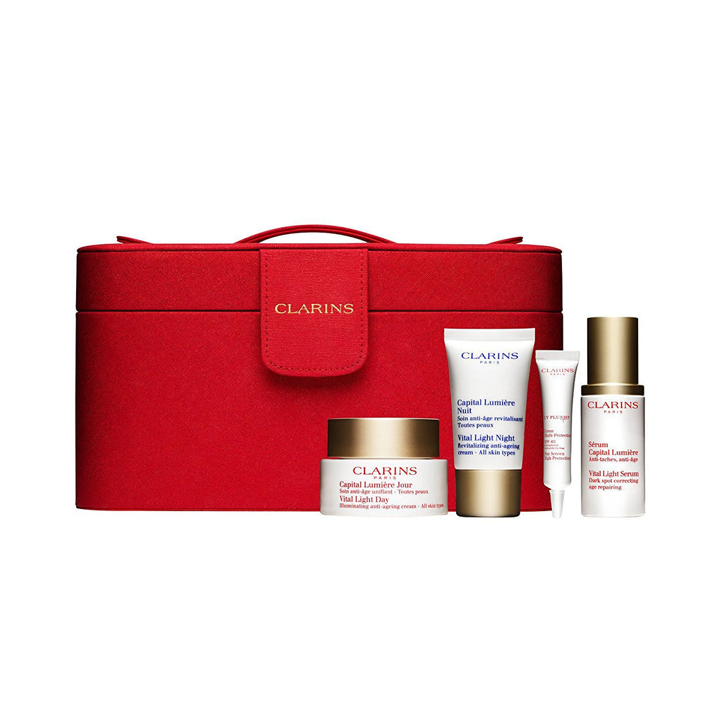 Clarins VITAL LIGHT Set 1.0 serum+ 1.7 day cream+ .5 night cream+ .33 dayscreen