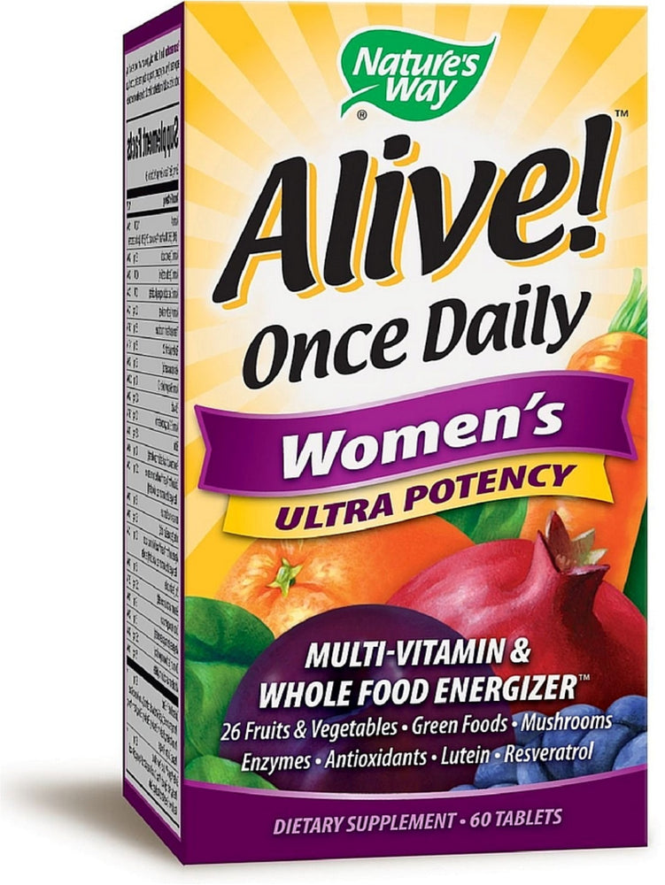 Nature's Way Alive! Once Daily Women's Ultra Potency Multivitamin & Whole Food Energizer Tablets 60 ea