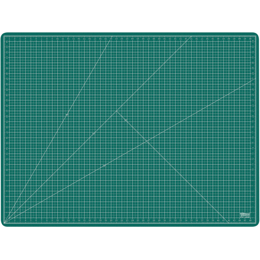 "36"" x 48"" GREEN/BLACK Self Healing 5-Ply Double Sided Durable PVC Cutting Mat"