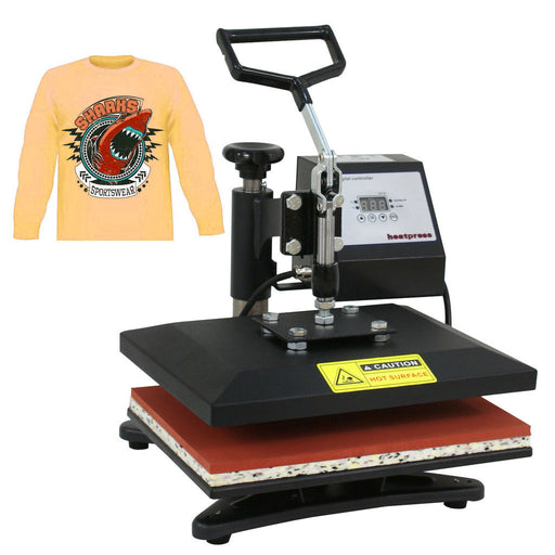 "Zeny 12""x10"" Swing Away Clamshell Teflon Heating Plate Heat Press Machine Digital Transfer Sublimation"