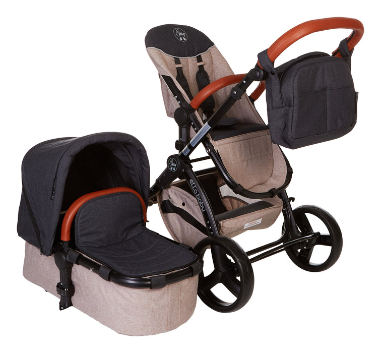 Charcoal Denim Deluxe Stroller System - Limited Edition