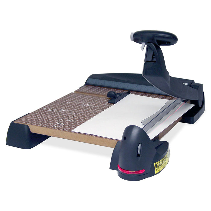 "X-Acto 12"" Square Laser Guillotine Trimmer, Wood Base"