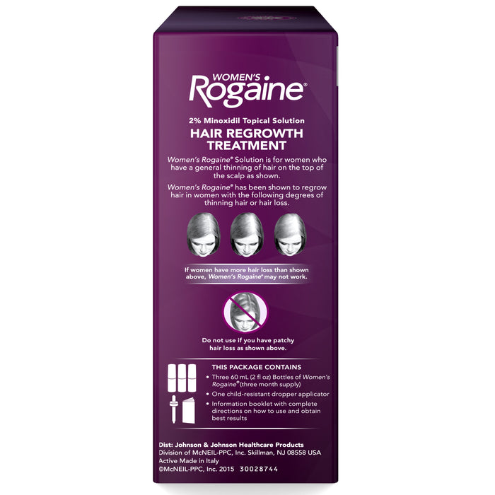Women's Rogaine 2% Minoxidil Topical Solution, 3-Month Supply