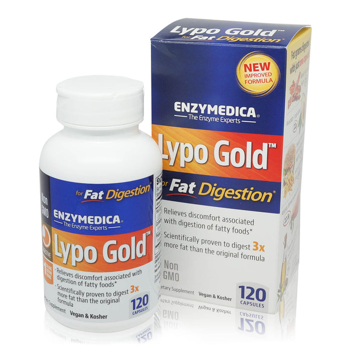 Enzymedica - Lypo Gold Enzymes for Optimal Fat Digestion 120 Capsules