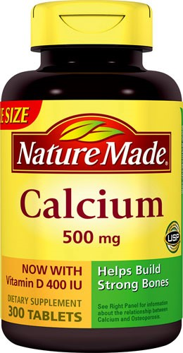 Nature Made Calcium + Vitamin D Tablets, 500mg, 300 Ct