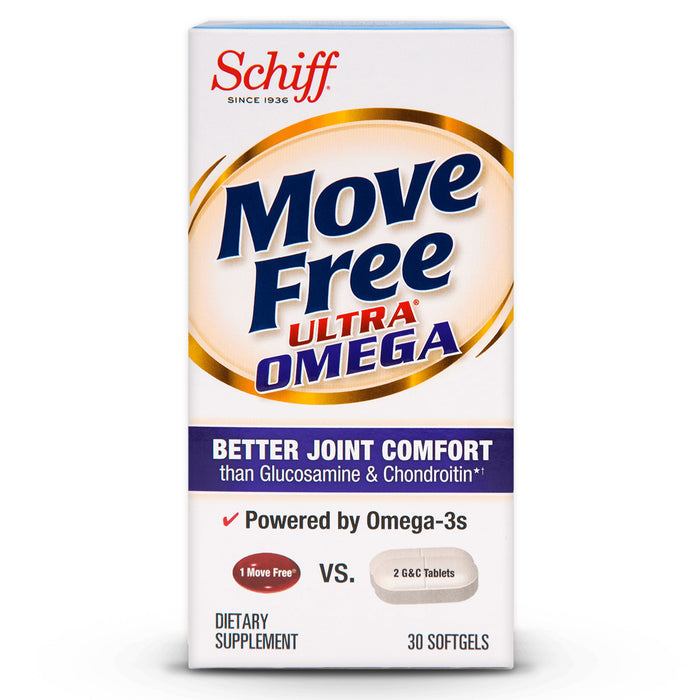 Move Free Ultra Omega Joint Comfort + Krill Oil and Hyaluronic Acid Softgels, 30 Ct