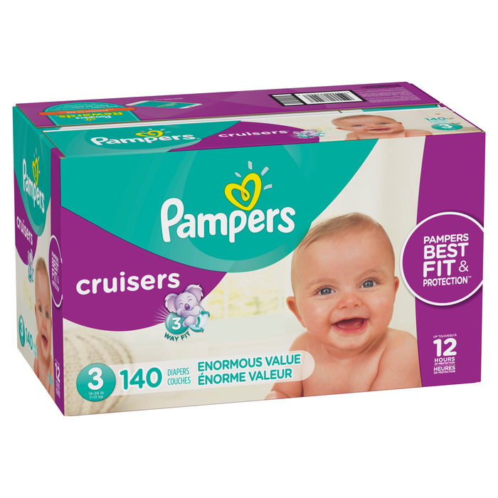 Pampers Cruisers Diapers Size 3 140 Count