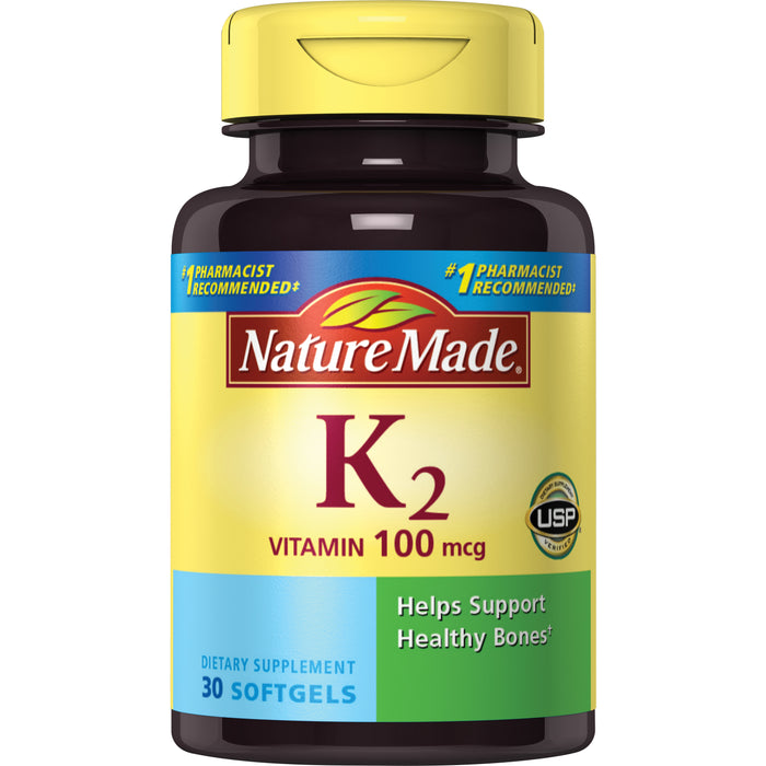 Nature Made Vitamin K2 Softgels, 100mcg, 30 Ct