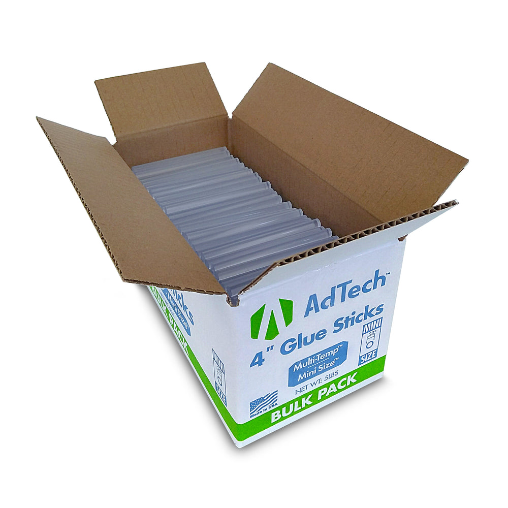 AdTech Bulk Box Multi-Temp Mini Hot Glue Sticks,4 inch