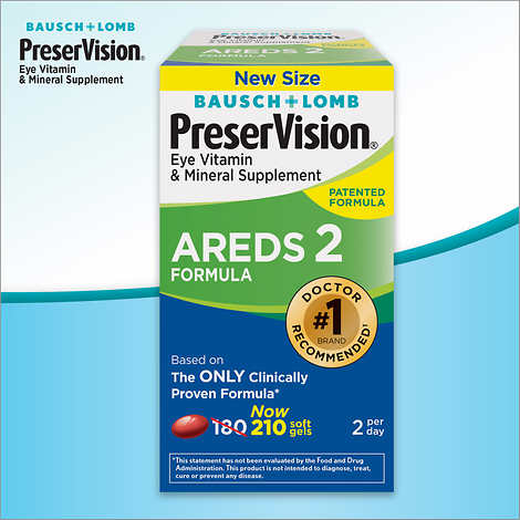 PreserVision AREDS2 Formula, 210 Soft Gels