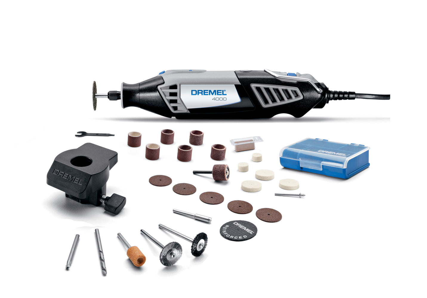 Dremel 4000-1/26 1.6 Amp Corded Variable Speed Rotary Tool, 1 Attachment And 26 Accessories
