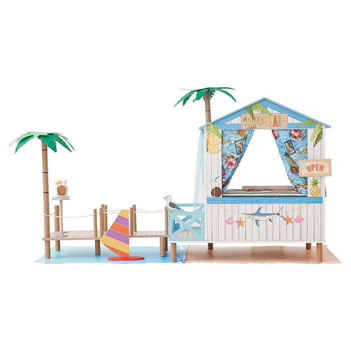 Doll House - Beach House Style with Accessories