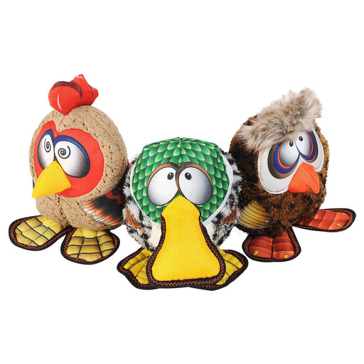 Happy Tails Barnyard Buddy Dog Toys, 3-count