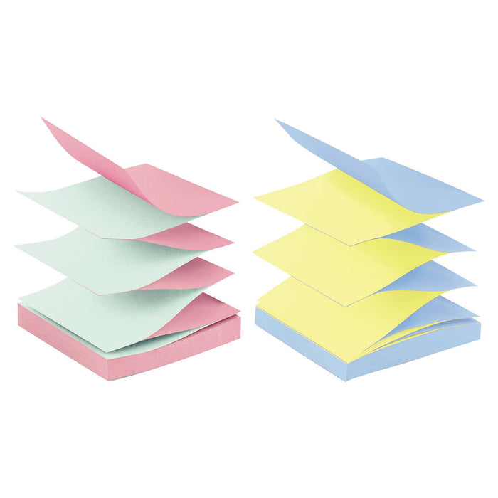 Post-it Pop-Up Notes, Alternating Marseille Colors, 3 x 3, 12-pack