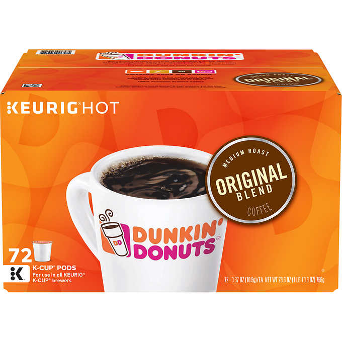 Dunkin' Donuts, Original Blend, Medium Roast, K-Cup Pods, 72ct