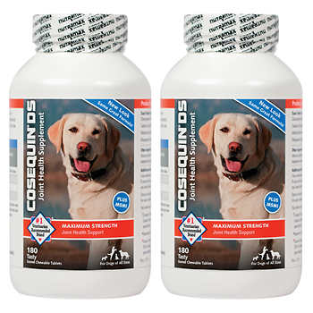 Cosequin DS Plus MSM Joint Health Supplement for Dogs 180 Tablets, 2-count