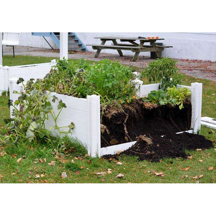 Keyhole 6 ft. x 6 ft. Composting Garden Bed