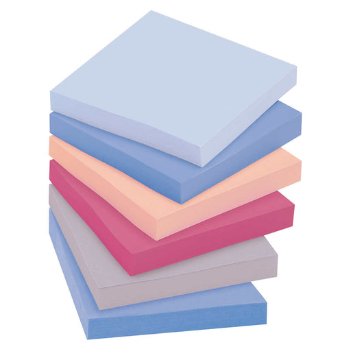 Post-it Recycled Super Sticky Notes, Bali Colors, 3 x 3, 12-pack