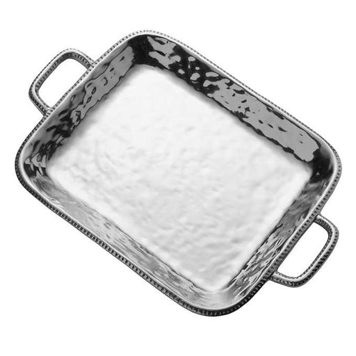 Wilton Armetale River Rock Rectangular Tray with Handles
