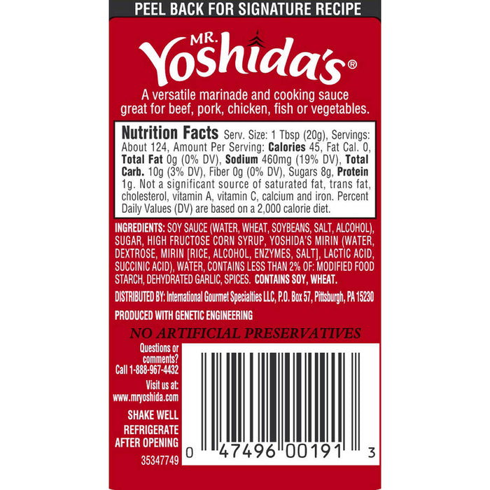 Mr. Yoshida's Sauce Original Gourmet, 86 oz