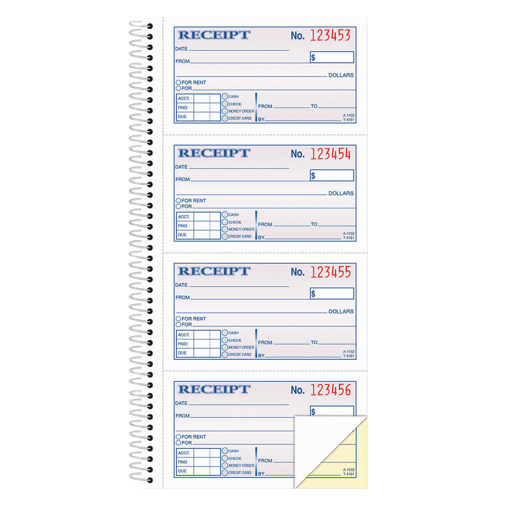 "Adams Carbonless Two-part Rent Receipt Books, 2 3/4"" x 4 3/4"" 400-count"