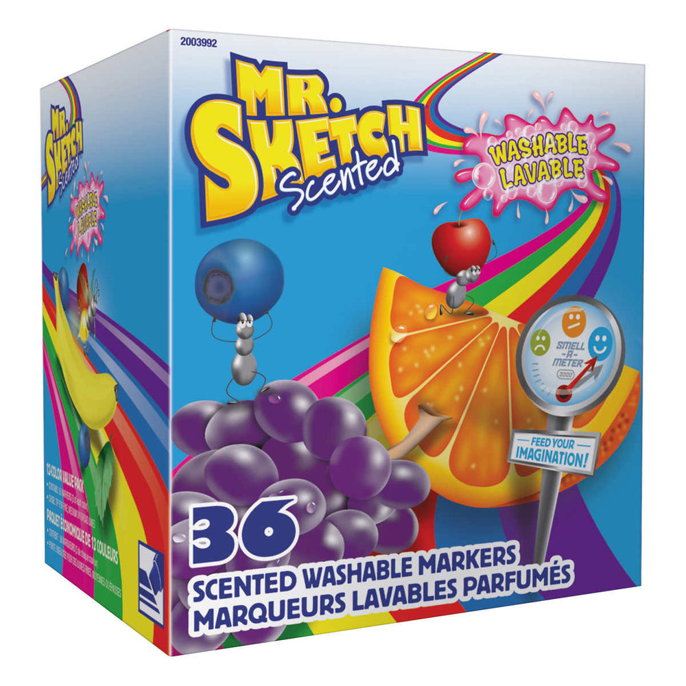 Mr. Sketch Scented Washable Markers, Classroom Pack, 36 Set