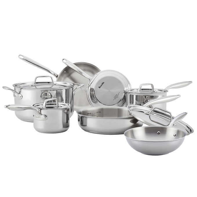 Breville ThermalPro 11-piece Clad Stainless Steel Cookware Set