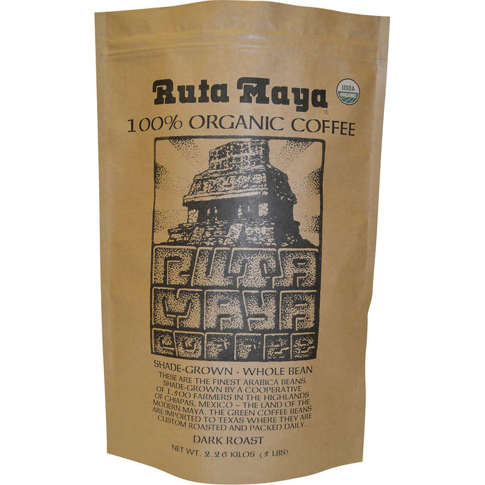 Ruta Maya Organic Dark Roast Coffee, 5 lbs.