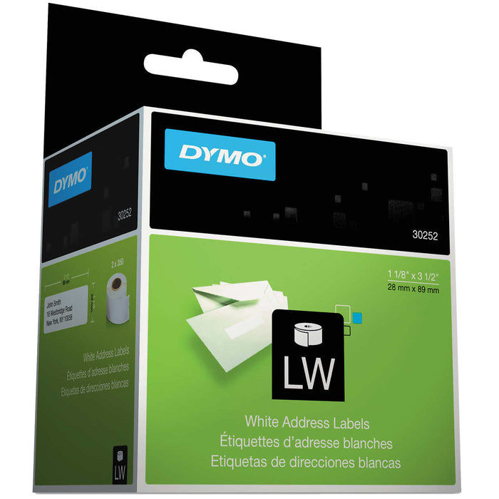 "Dymo Address Label 3-1/2""x1-1/8"" White 700-count, DYM 30252"