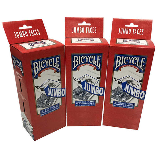 Bicycle Jumbo Playing Cards, 3-pack (36 Decks)