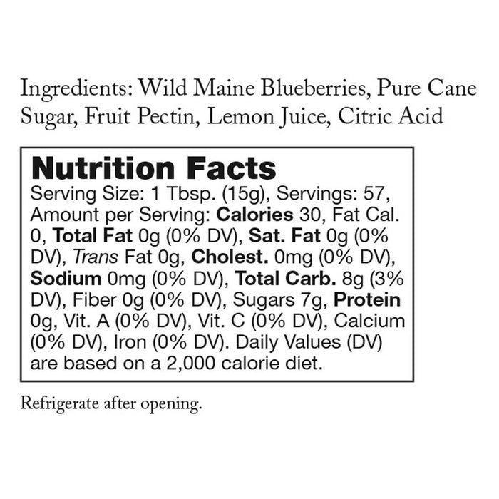 Stonewall Kitchen Wild Maine Blueberry Jam, 30 oz, 2-count