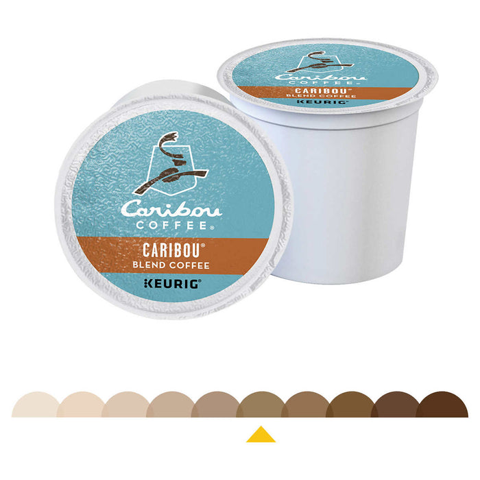 Caribou Coffee, Caribou Blend, Medium Roast, K-Cup Pods, 100ct
