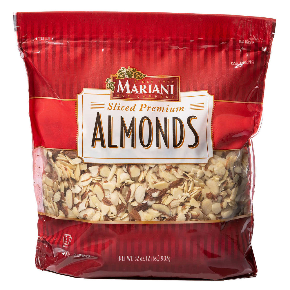 Mariani Sliced Premium Almonds, 2 lbs