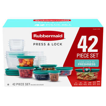 Rubbermaid 42-piece Press & Lock Food Storage Set