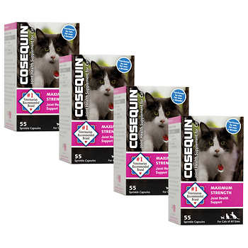 Cosequin Feline Sprinkle Capsules 55-count, 4-pack