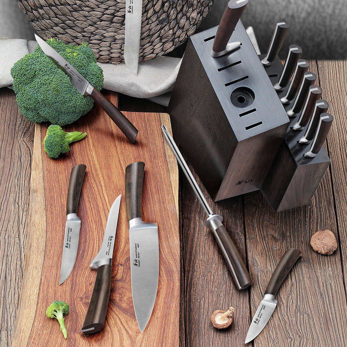 Cangshan A Series 16-piece Swedish Steel Forged Knife Block Set
