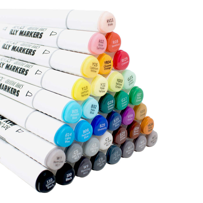 Art 101 36-count Illy Markers in Fabric Organizer