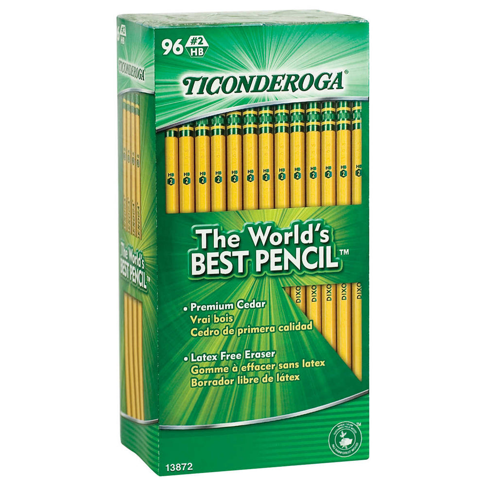 Dixon Ticonderoga HB #2 Pencil, 96-pack