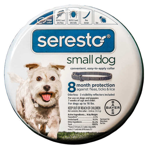 Seresto Small Dog Flea & Tick 8 Month Prevention