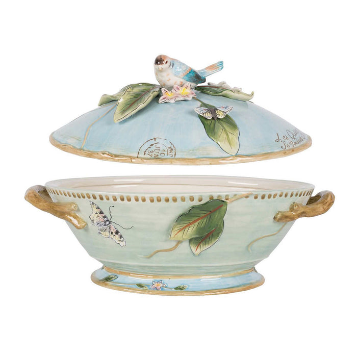 Fitz & Floyd Toulouse Tureen With Ladle