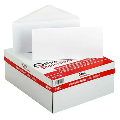 "Office Impressions Plain Windowless Envelope 4-1/8"" x 9-1/2"" White, 500-count, OFF 82292"