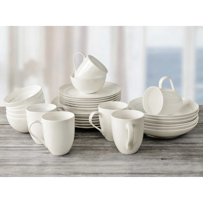 Over and Back Off the Menu Bone China 30-piece Dinnerware Set