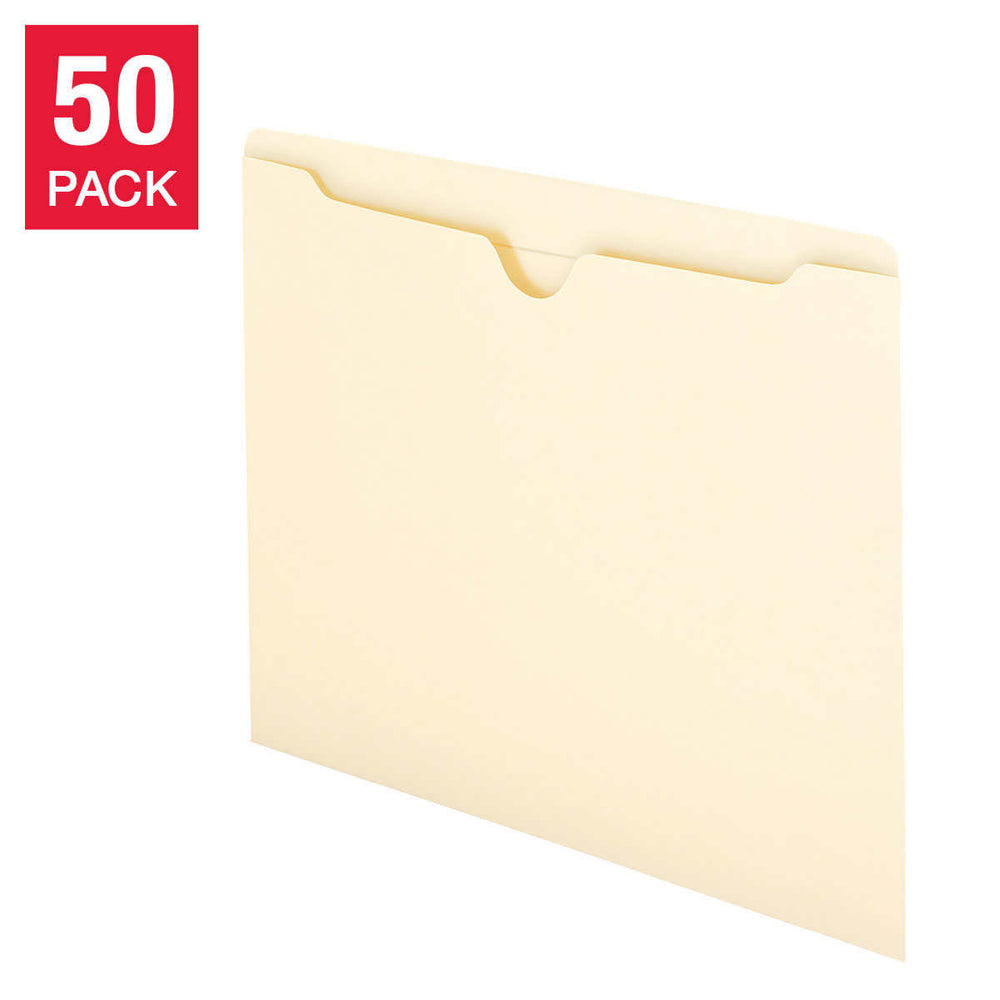 "Smead File Jacket, 2"" Expansion, Letter, Manila, 50-count"