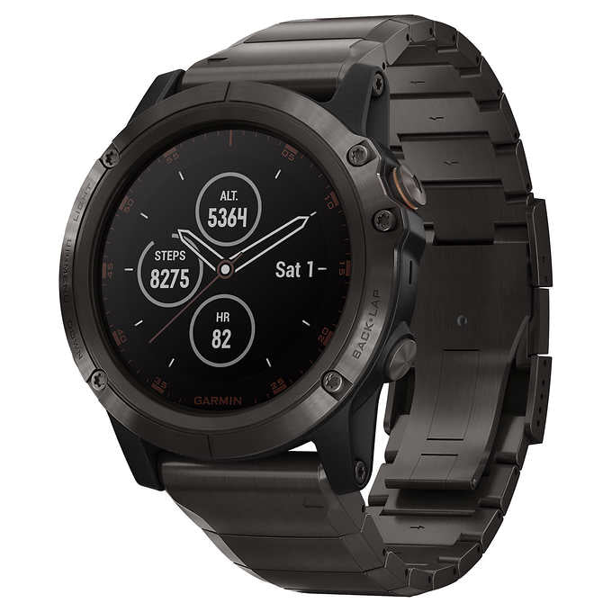 Garmin fenix 5X Plus Multisport GPS Watch with Golf Features