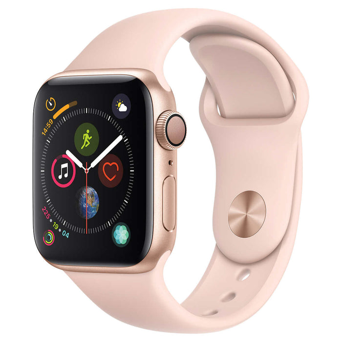 Apple Watch Series 4 GPS with Pink Sand Sport Band - 40mm - Gold