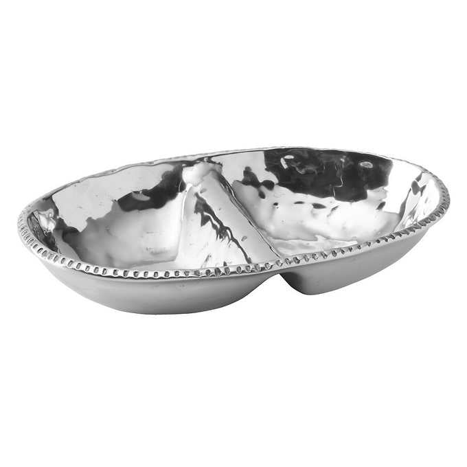 Wilton Armetale River Rock Divided Oval Serving Dish