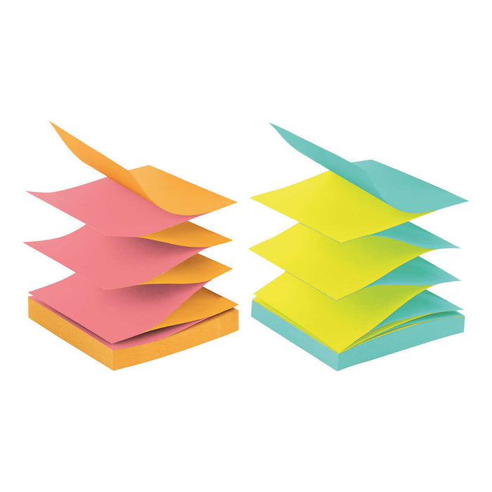 Post-it Pop-Up Notes, Alternating Cape Town Colors, 3 x 3, 12-pack