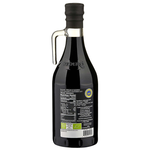 Redoro USDA Organic Balsamic Vinegar 500 ml, 2-pack
