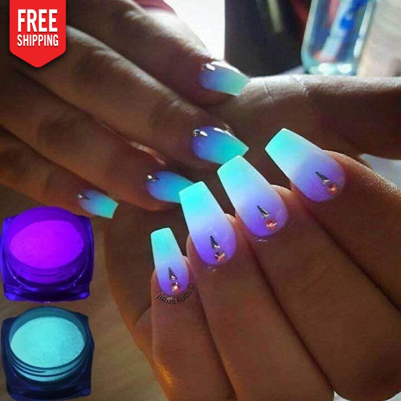 Pigmentos luminosos unhas Nails Art NAcloset