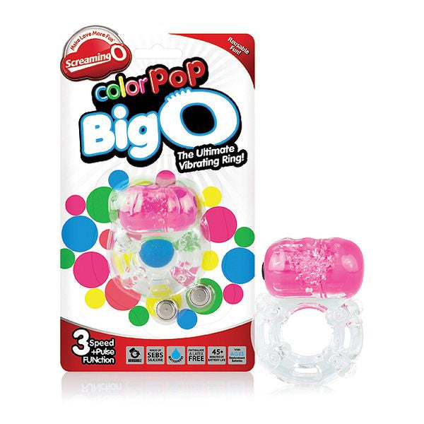 Color Pop Big O Rosa Cock Ring The Screaming O SCCPBO
